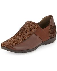 Sesto Meucci - Geneva Embossed Leather Slip-on Cognac - Lyst