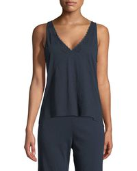 Skin - Quincey V-neck Lounge Camisole - Lyst