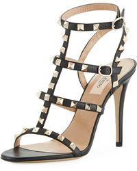 Valentino - Rockstud 105mm Caged Leather Sandal - Lyst