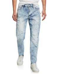 latest style of 2019 get new newest Men's Sartor Acid-wash Distressed Jeans