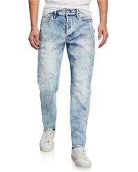 hot-selling professional good texture distinctive design Men's Sartor Acid-wash Distressed Jeans