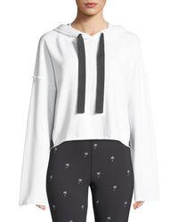 Alala - Stance Side-stripe Cropped Hoodie Sweatshirt - Lyst