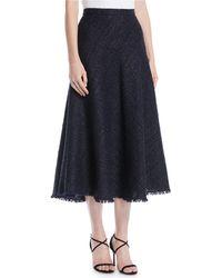 ESCADA - A-line Metallic Tweed Midi Circle Skirt - Lyst