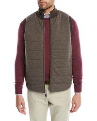 Peter Millar - Men's Full-zip Birdseye Vest - Lyst