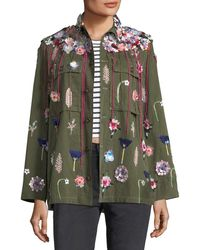 Libertine | Embellished Button-front Army Jacket | Lyst