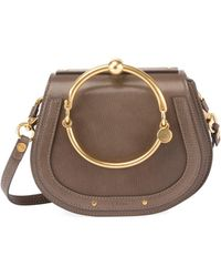 Chloé | Nile Small Leather/suede Bracelet Crossbody Bag | Lyst
