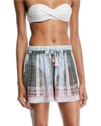 Ramy Brook - Irina Embroidered Coverup Shorts - Lyst