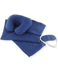 Sofia Cashmere - Cashmere Cable-knit Travel Gift Set - Lyst