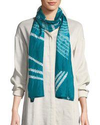 Eileen Fisher - Angled Silk Shibori Scarf - Lyst