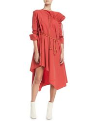 Palmer//Harding - Gallery Long-sleeve Belted Cotton Dress - Lyst