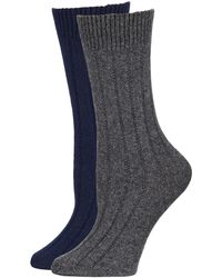 Neiman Marcus - Cashmere Socks In Gift Box 2 Pack - Lyst