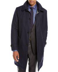 Neiman Marcus - Men's Water-resistant Raincoat In Wool - Lyst