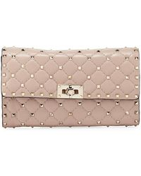 Valentino - Quilted Rockstud Chain Bag - Lyst