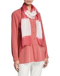 Eileen Fisher - Silk Tie - Dye Scarf - Lyst