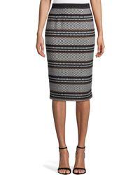 Badgley Mischka - Aztec Stripe Pencil Skirt - Lyst