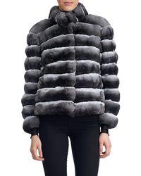 Gorski - Horizontal Chinchilla Jacket - Lyst