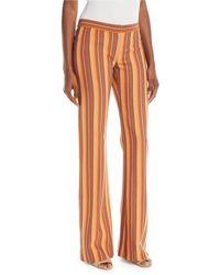 Derek Lam | Blanket Striped Flare Trousers | Lyst