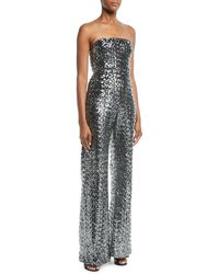 d64a4be7154 Alexis - Carleen Sequin Strapless Wide-leg Jumpsuit - Lyst