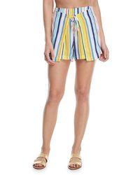 Nanette Lepore - Amalfi Coast Striped Cotton Coverup Shorts - Lyst