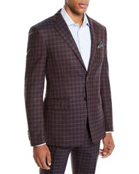Etro - Men's Two-tone Check Wool Jacket - Lyst