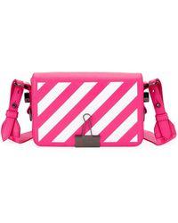 Off-White c/o Virgil Abloh - Diagonal Stripe Mini Flap Clutch Bag With Binder Clip - Lyst