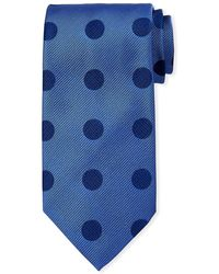 Charvet - Large Polka-dot Silk Tie - Lyst