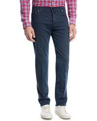 Kiton - Twill Five-pocket Jeans - Lyst