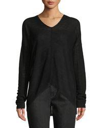 Eileen Fisher - Organic Linen Box Sweater - Lyst