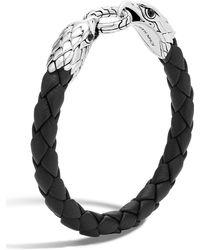 John Hardy - Silver Eagle Head Woven Bracelet - Lyst