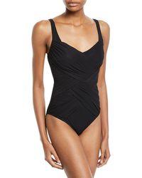 Gottex - Lattice Ruched One-piece Swimsuit - Lyst