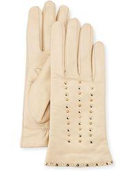 Portolano - Studded Leather Gloves - Lyst