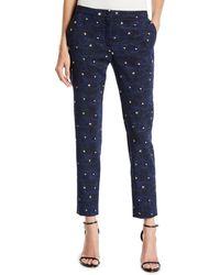 ESCADA - Talas Night-sky Jacquard Ankle Pants - Lyst