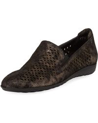 Sesto Meucci - Byrna Metallic Perforated Leather Comfort Loafer - Lyst