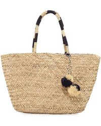 Seafolly - Carried Away Beach Basket With Pompom - Lyst