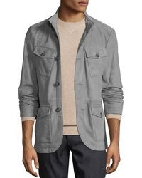 Michael Kors - Men's Button-front Suede Field Jacket - Lyst