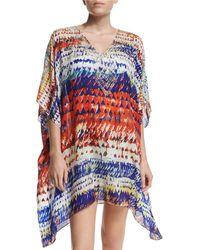 Parker - Playa Half-sleeve Embellished Coverup - Lyst