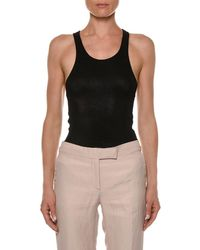Tom Ford - Scoop-neck Glossy Tank Top - Lyst