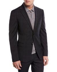 Z Zegna - Drop 8 Subtle Check Two-piece Wool Suit - Lyst