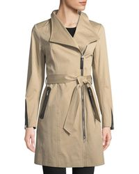 Mackage - Estela Belted Trench Coat W/ Contrast Zippers - Lyst