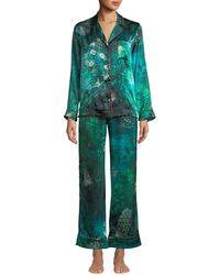 Morpho + Luna - Tom Gallant Ines Forest Classic Pajama Set - Lyst
