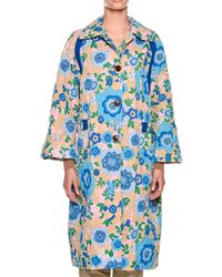 Marni - Long-sleeve Quilted Floral-print Mid-calf Duster Jacket - Lyst