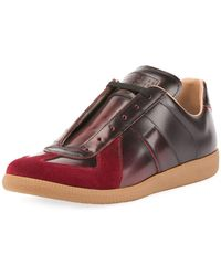 Maison Margiela - Men's Replica Burnished Leather Low-top Sneakers - Lyst
