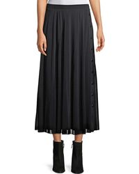 Fuzzi - Full Tulle Skirt With Side Snaps - Lyst