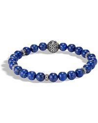 John Hardy - Men's Classic Chain Bead Bracelet W/ Lapis - Lyst