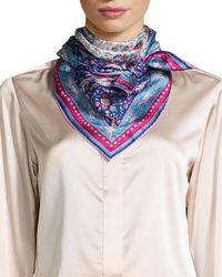 Liberty - Imran Framed Floral Silk Scarf - Lyst