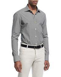 Kiton - Mosaic-print Cotton Shirt - Lyst