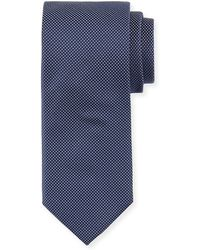 BOSS - Dot-print Silk Tie - Lyst