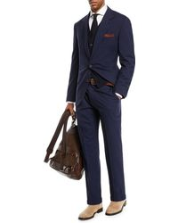 Brunello Cucinelli - Men's Solid Wool-blend Two-piece Travel Suit - Lyst