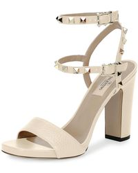 Valentino | Rockstud 100mm Chunky-heel Sandal | Lyst