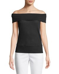 Cupcakes And Cashmere - Cathie Off-the-shoulder Top - Lyst
